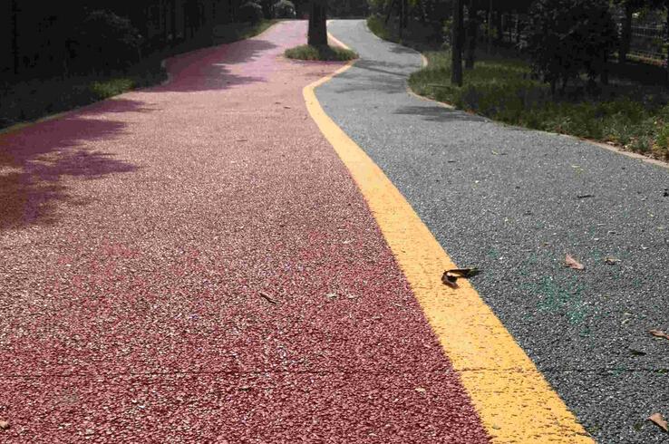 彩色透水混凝土路面